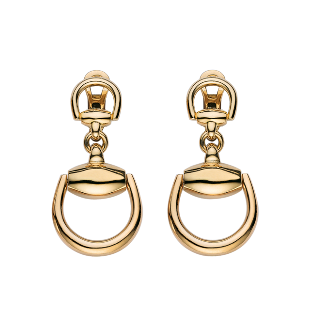 Gucci 18ct Gold Running G Earrings